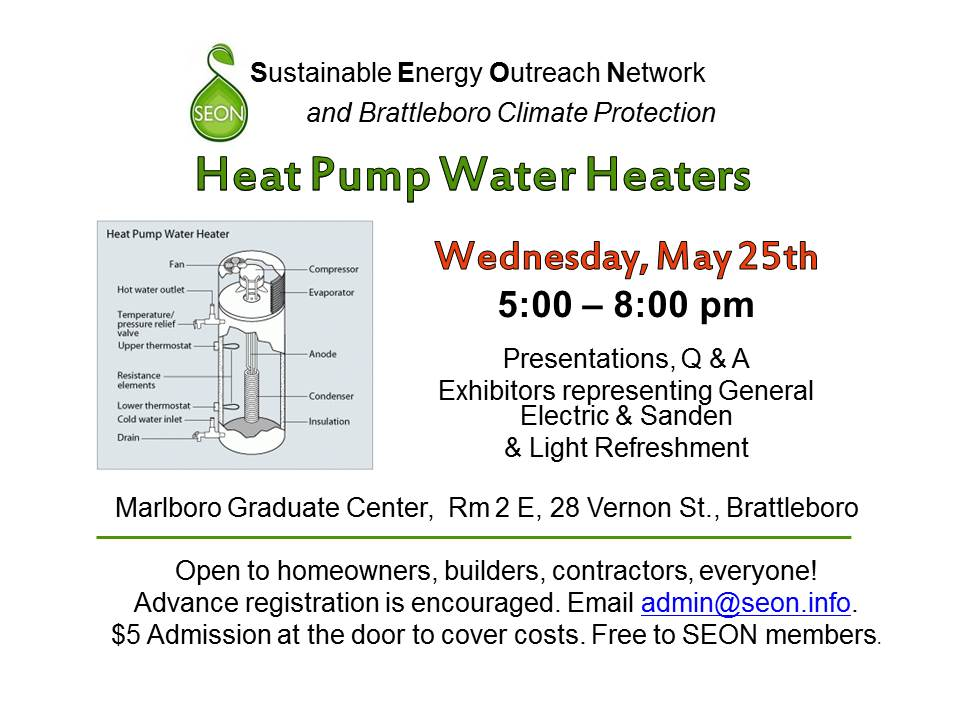 Heat Pump Water Heaters: May 25th